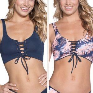 NWT Maaji 4 way Reversible Bikini Top